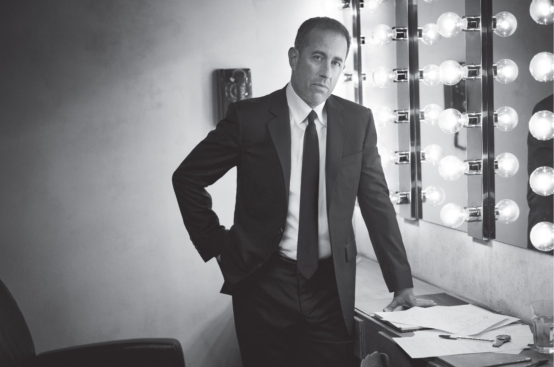 Jerry Seinfeld Black and White Promotional Photo
